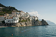 Mediterranean Landscape Framed Prints - Amalfi Point Framed Print by Jim Chamberlain