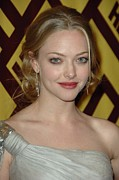 Hair Bun Photo Framed Prints - Amanda Seyfried At Arrivals For After Framed Print by Everett
