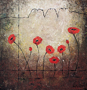 Independence Mixed Media - Amapolas II by Sonia Flores Ruiz