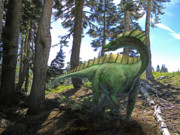 Extinct And Mythical Mixed Media - Amargosaurus In Forest by Frank Wilson