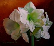 Doug Strickland Paintings - Amaryllis 2 by Doug Strickland