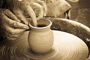Master Potter Prints - Amazing hands V Print by Emanuel Tanjala