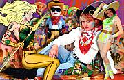 Cowgirls Paintings - Amazing Stories by Robert Anderson
