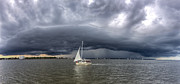 Amazing Posters - Amazing Storm Clouds and Sailboat Charleston SC Poster by Dustin K Ryan