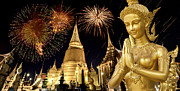Pyrotechnics Photo Prints - Amazing Thailand Print by Anek Suwannaphoom