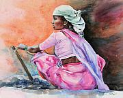 India Painting Framed Prints - Amazon Framed Print by Kate Bedell