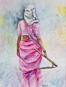 Indian Woman Prints - Amazon lll Print by Kate Bedell