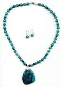 Silver Turquoise Jewelry - Amazonite by Margaret Brackley