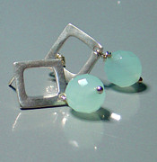 Drop Earrings Originals - Amazonite Sterling Drop Earrings by Robin Copper