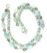 Hearts Jewelry - amazonite with Bali Silver by Pat Stevens