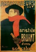 Henri Paintings - Ambassadeurs by Henri de Toulouse-Lautrec
