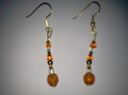 Plastic Jewelry - Amber Earrings by Karen Jensen