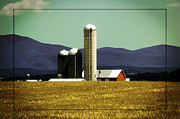 Silos Posters - Amber Waves of Grain Poster by DigiArt Diaries by Vicky Browning