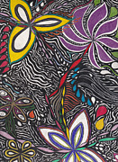 Flower Motifs Posters - Ambitions Flight Poster by Laurie Gibson