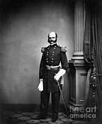 Army Of The Potomac Framed Prints - Ambrose Burnside, Union General Framed Print by LOC/Photo Researchers