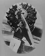 1930s Portraits Photo Framed Prints - Amelia Earhart 1897-1937, Posting Framed Print by Everett