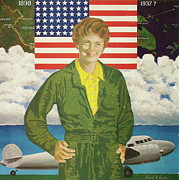 Amelia Earhart Paintings - Amelia Earhart Calendar Art by Frank Hunter