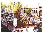Parade Painting Prints - America At Its Best Print by Mike Hill