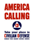 United States Government Posters - America Calling Poster by War Is Hell Store