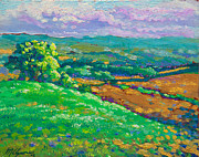 Impasto Oil Paintings - America East Pastoral by Michael Gross
