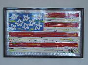 Flag Sculptures - America edition 1 by Mac Worthington