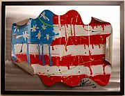 Flag Sculptures - America Edition 2 by Mac Worthington