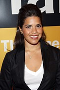 Natural Makeup Posters - America Ferrera At A Public Appearance Poster by Everett