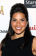 2000s Hairstyles Framed Prints - America Ferrera At Arrivals For Save Framed Print by Everett