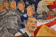 Barack Obama Acrylic Prints - America In My Eyes Acrylic Print by Alex Krasky