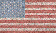 Red White And Blue Mixed Media Originals - America by Jordan Scott