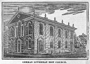 Zion Lutheran Church Prints - America: Lutheran Church Print by Granger