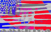 American Flag Mixed Media - America by Mimo Krouzian