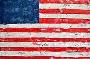 Abstract American Flag Paintings - America by Nicky Dou