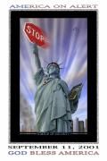 Twin Towers World Trade Center Digital Art Metal Prints - America On Alert II Metal Print by Mike McGlothlen