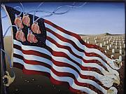 Patriotic Paintings - America by Sandra Scheetz-Wise