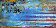 Patriotic Painting Metal Prints - America Metal Print by Sean Hagan