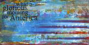 America Print by Sean Hagan