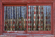 Picture Window Frame Photos Art - America Still Beautiful Red Picture Window Frame Photo Art View by James BO  Insogna