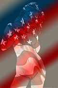 Flagg Digital Art - America by Tbone Oliver