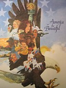 Liberty Paintings - America the Beautiful by Chuck Hamrick