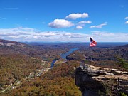 Chimney Rock State Park Prints - America The Beautiful Print by Crystal Joy Photography