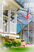 Front Porch Posters - America the Beautiful in Spring Poster by Christine Belt