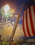 Pyrotechnics Photo Prints - America the Beautiful Print by Jim DeLillo
