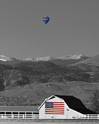 Selective Color Framed Prints - America The Beautiful The Banner Of The Free BWSC Framed Print by James Bo Insogna