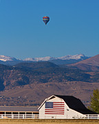 Colorado Flag Photos - America The Beautiful The Banner Of The Free  by James Bo Insogna