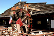 Old Mill Scenes Photos - America Water Wheel by LeeAnn McLaneGoetz McLaneGoetzStudioLLCcom