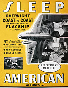 American Airlines Framed Prints - American Airlines, 1936 Framed Print by Granger