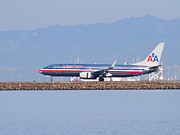 American Airlines Prints - American Airlines Jet Airplane At San Francisco International Airport SFO . 7D11837 Print by Wingsdomain Art and Photography