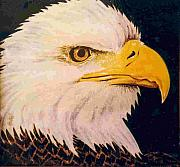 Birds Ceramics Prints - American Bald Eagle Print by Dy Witt