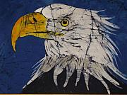 Patriotic Tapestries - Textiles - American Bald Eagle Fine Art Batik by Kay Shaffer